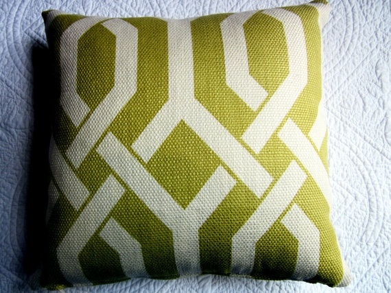 Geometric Citrus Cushion 35cm x 35cm Feather by NewhookDesign, $45.00