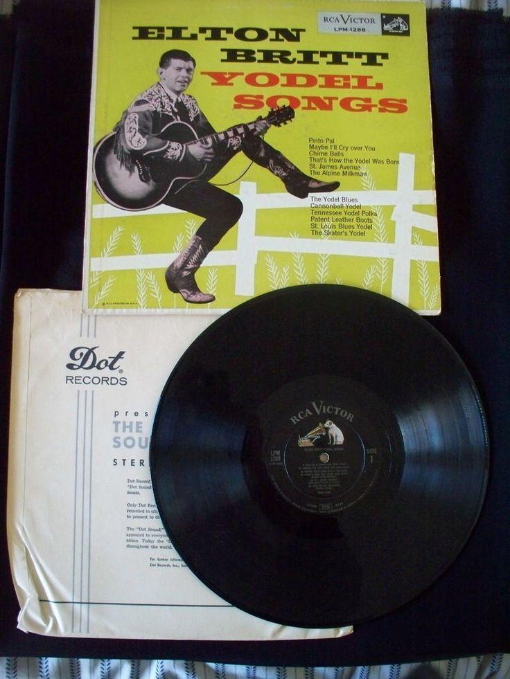 eLTON BRITT YODEL SONGS 1956 RCA VICTOR LPM1288 OKLAHOMA