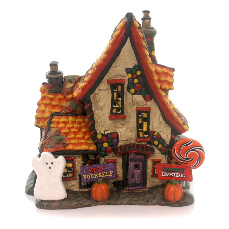 Department 56 House Sweet Trappings Cottage Village Halloween Lighted Building
