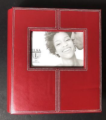Red Leather 4x6 Photo Album 200 Pictures Personalize Cover Photo White Stitching 782552121173 | eBay
