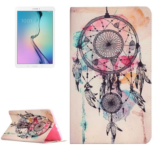 [$5.09] For Samsung Galaxy Tab E 9.6 / T560 Painting Dream Catcher Pattern Horizontal Flip Leather Case with Holder