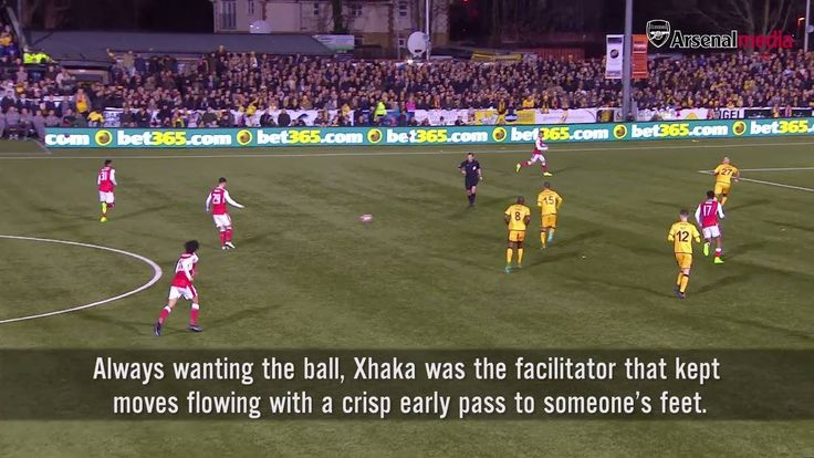 Granit Xhaka v Sutton United 9⃣5⃣ touches 9⃣0⃣ passes 1⃣ assist ... Watch the full edition of the Breakdown: http://arsn.al/jESd2a
