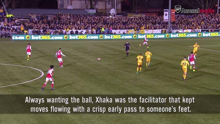 Granit Xhaka v Sutton United 9⃣5⃣ touches 9⃣0⃣ passes 1⃣ assist ... Watch the full edition of the Breakdown: http://arsn.al/jESd2a