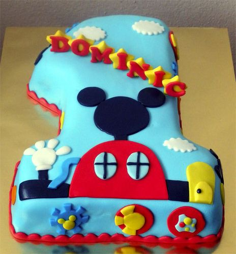 Mickey Mouse 1st Birthday Cake: Mickey Mouse 1st Birthday Cake
