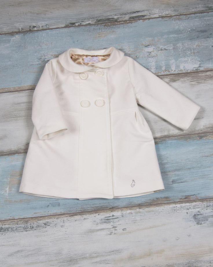 Girl's coat with tricot velour fabric and golden croco inner linings