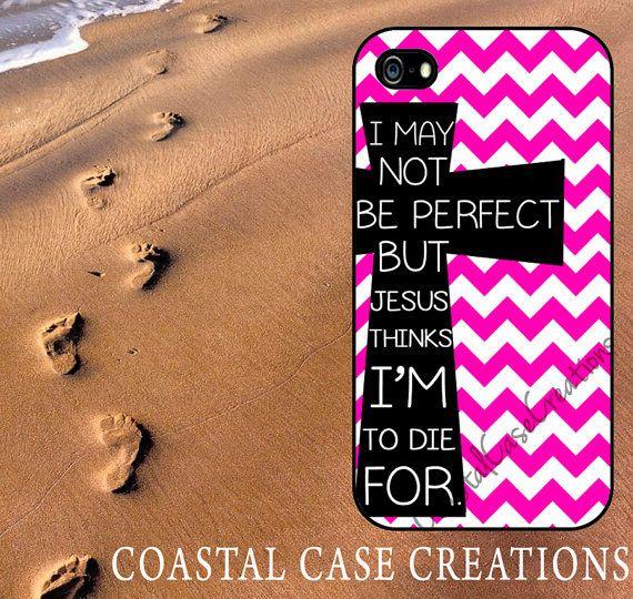 Pink Chevron Cross Quote Apple iPhone 4 by CoastalCaseCreations, $18.99