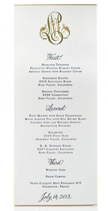 35 best Wedding Invitations images on Pinterest Bridal - formal dinner menu template