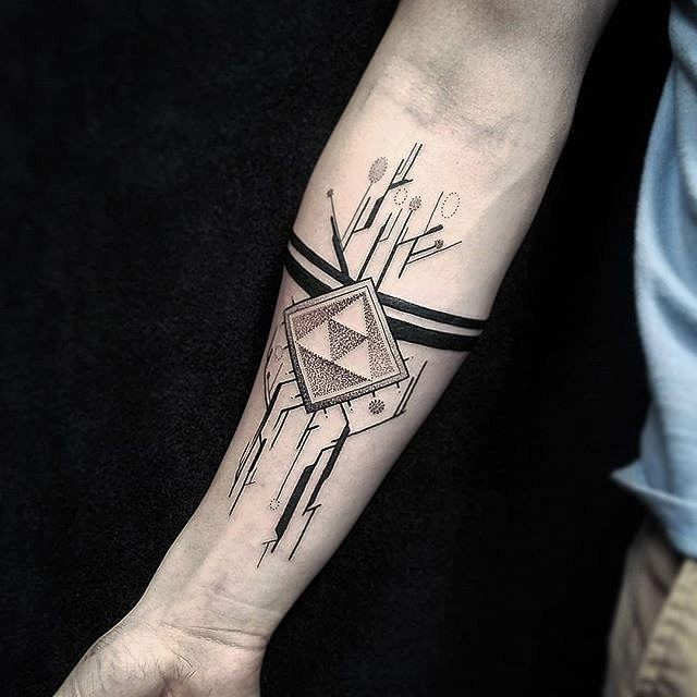"5,056 Likes, 25 Comments - #1 PAGE ABOUT GAMING TATTOOS! (@gamer.ink) on Instagram: ""Triforce processor tattoo done by @brandondavidtattooer. To submit your work use the tag #gamerink…"""