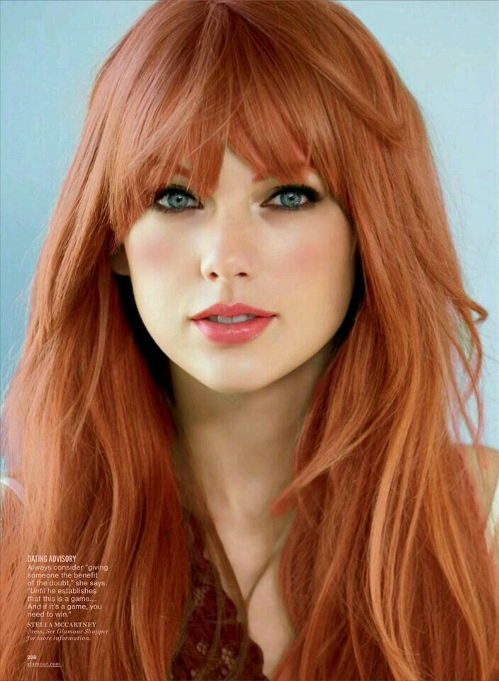 #Farbberatung #Stilberatung #Farbenreich mit www.farben-reich.com Keep your Strawberry Blonde more strawberry and less blonde with Monat. Bangs for days