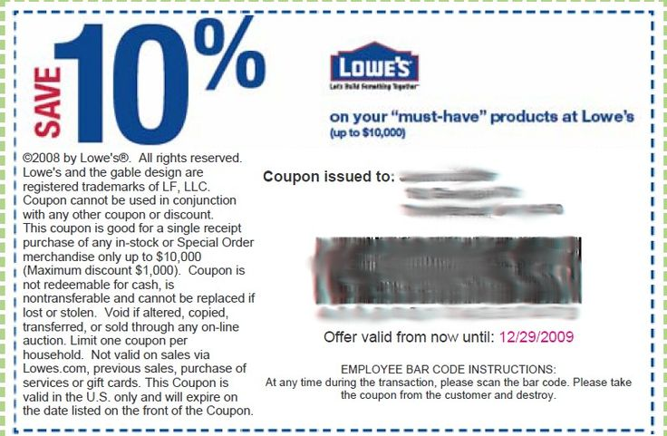 For an additional 4% cash back on Lowe's purchases sign up at TopCashBack. eBates will give you 2% on Lowe's plus a $10 bonus after your first $25 purchase. Join these free sites now, its free money! We do have a $5 off $50 (10%) coupon for Home Depot and ways to lower your auto insurance and home downloadsolutionles0f.cf even more to your savings by paying with a gift card that you buy at less than face.
