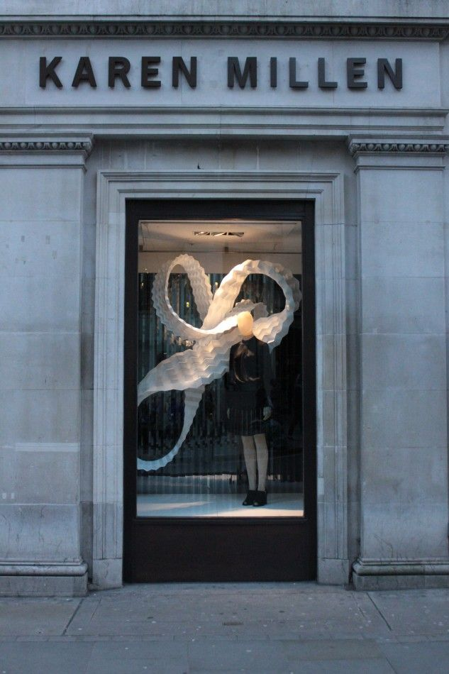Karen Millen Mamou-Mani Origami Window Display