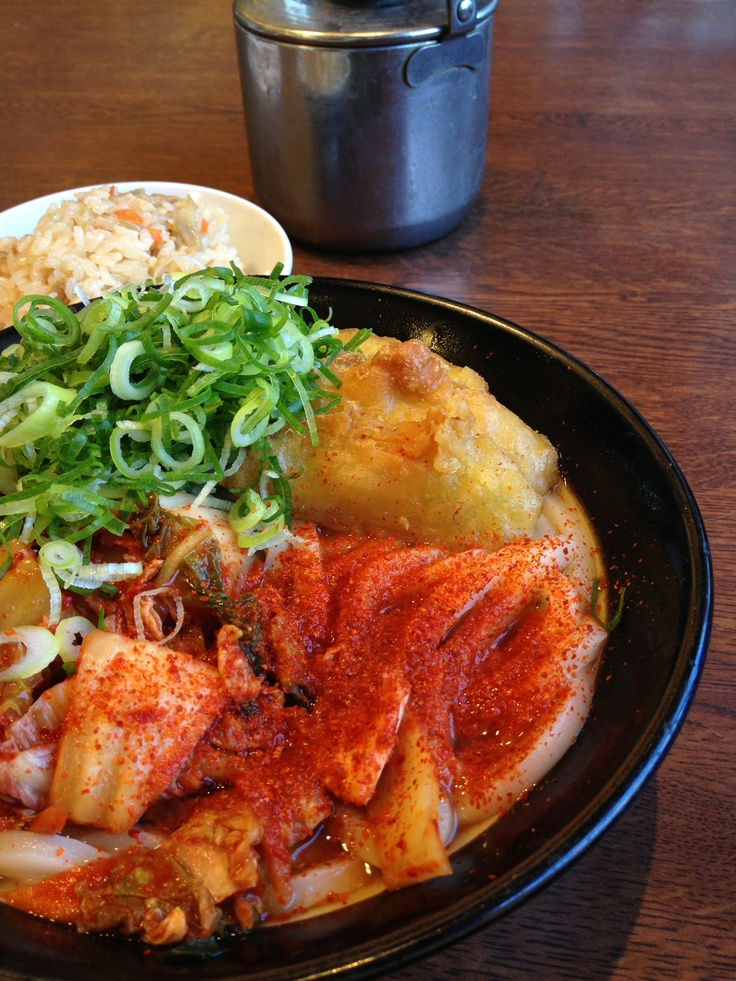 Photo: Japanese-Korean Fusion Kimchi Hot  Udon Noodles Soup|キムチうどん