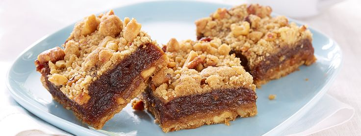 Nutty Gluten Free* Date Squares- This gluten free date square will have you going nuts for more.