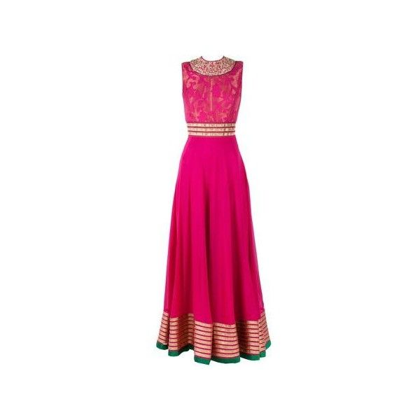 floor length anarkali Indian dress-making ideas found on Polyvore featuring polyvore, fashion, clothing, dresses, floor length dresses, pink dress and indian dresses