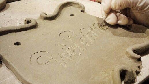 New ceramic welcome plaque frontdoor homedecor walldecor