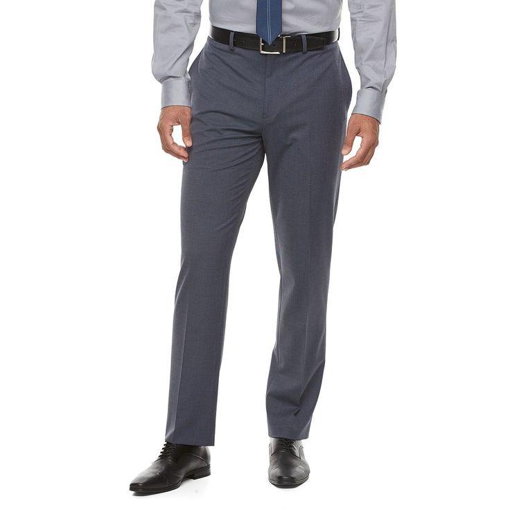 Men's Van Heusen Flex Slim-Fit Suit Pants, Size: 32X32, Brt Blue