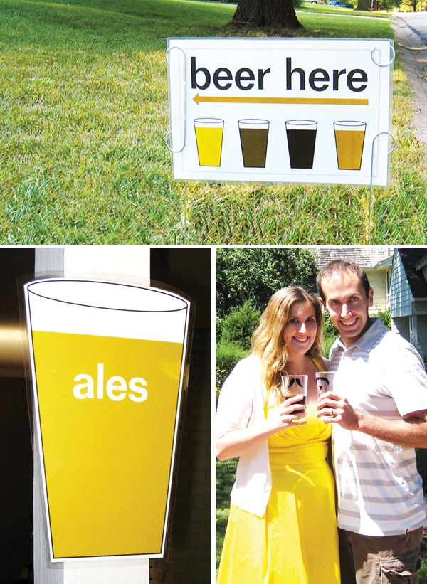 OMG!  This would be such a fun grown-up party.  The blogger said she was going to make this an annual event for Octoberfest!  Great idea.  Have to try this out this fall