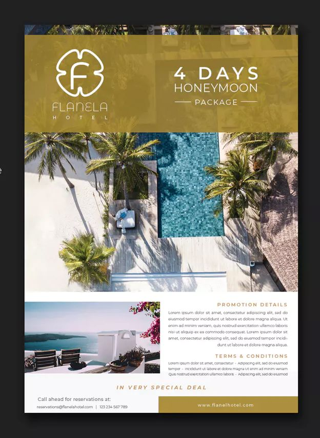 Luxury Hotel Flyer Template Indesign Indd International A4 297