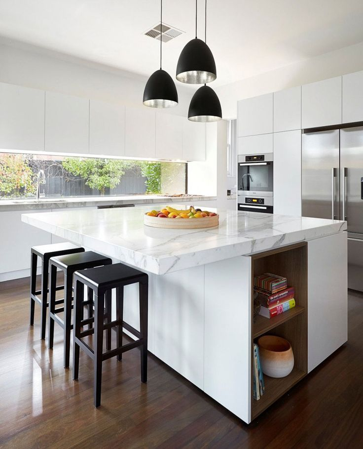 Bright White Contemporary Kitchens - This kitchen from a home in Melbourne, Australia, by LSA Architects.