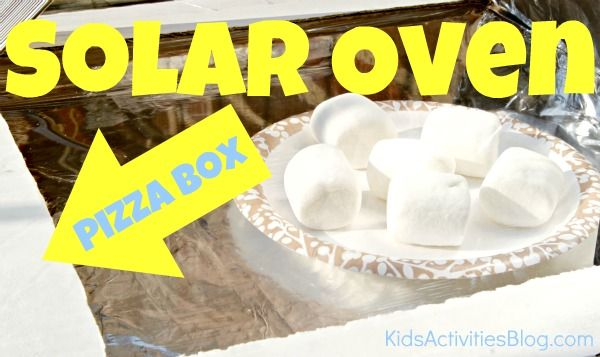 DIY Solar Oven from a pizza box!