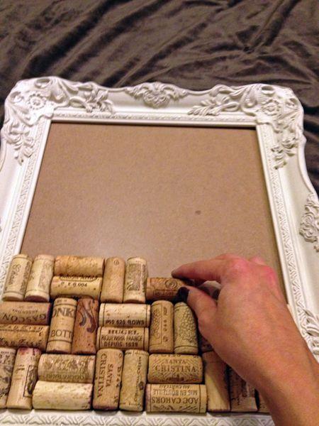 Dry wine corks jewelry/memo board More