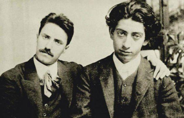 Berény Róbert (jobbra) Weiner Leó társaságában