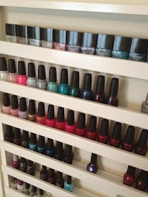 Build Your Own Nail Polish Rack- yes please!