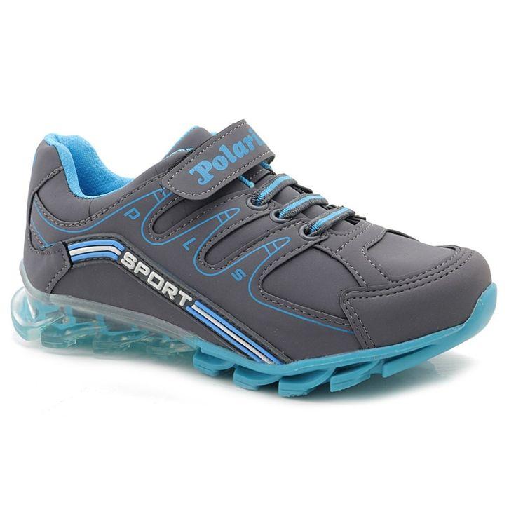 Polaris 2017 Model Gri Mavi Erkek Çocuk Spor Ayakkabı