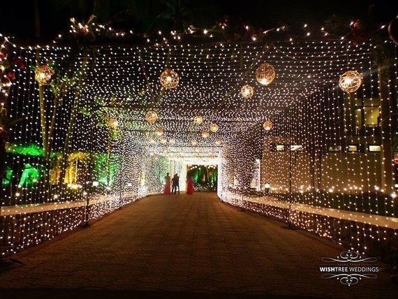 lighting decoration for wedding. Looking For Fairy Lights Ceiling Entrance Decor? Browse Of Latest Bridal Photos, Lehenga \u0026 Jewelry Designs, Decor Ideas, Etc. On WedMeGood Gallery. Lighting Decoration Wedding V