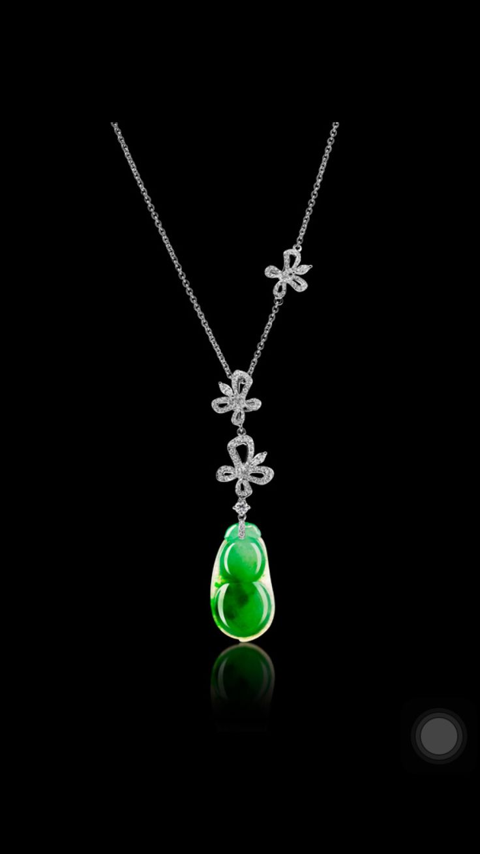 Necklace With Jadeite And Diamonds Jadeite In 2019