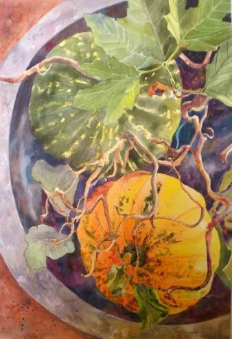 Golden Melon, painting by artist Kay Smith