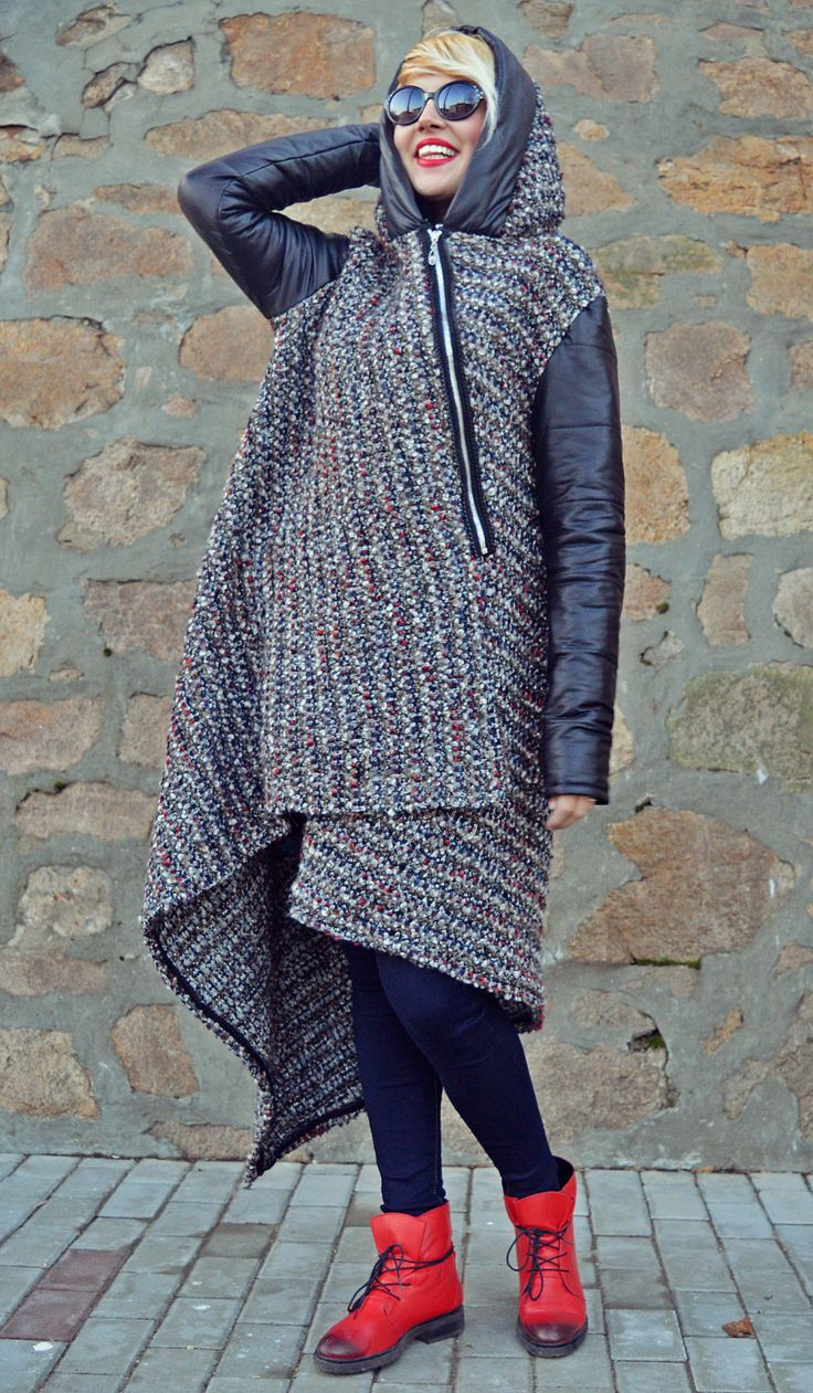 Just launched! Italian Wool Boucle Coat, Wool Boucle Coat, Grey Long Coat with Padded Black Sleeves and Hood TC85, Hooded Coat, Grey Coat https://www.etsy.com/listing/501194233/italian-wool-boucle-coat-wool-boucle?utm_campaign=crowdfire&utm_content=crowdfire&utm_medium=social&utm_source=pinterest
