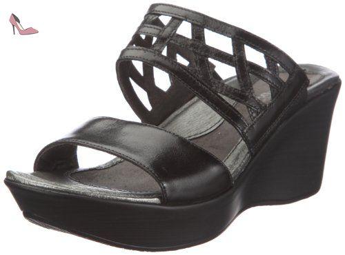 Oline Sandal, Mules Femme, Noir (Black 2), 38 EUSanita