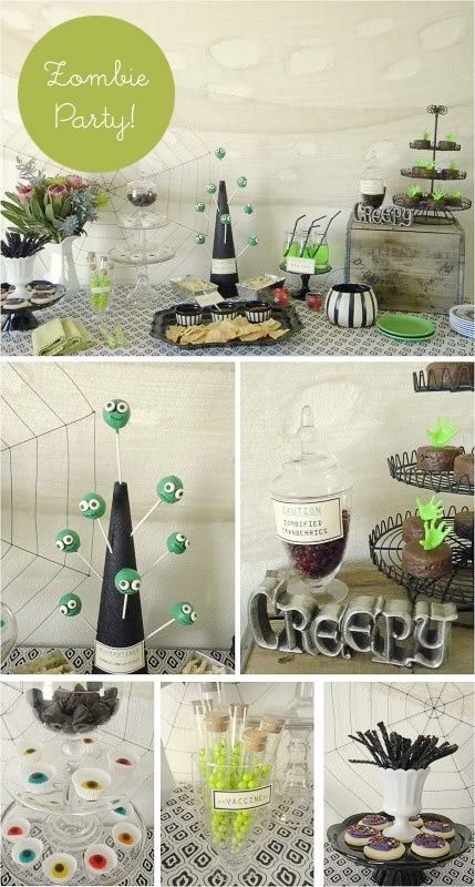 ideas for a cute zombie party zombie-party