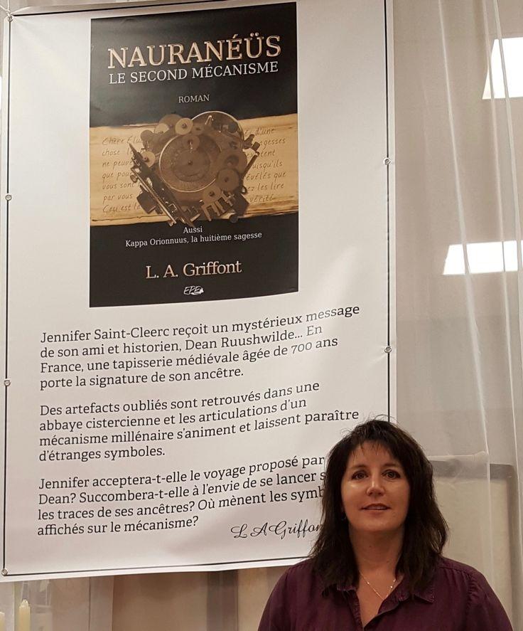 Lucy Alex Griffont au Salon du livre de Bonaventure 2017 afin de présenter son roman Nauranéüs Le Second Mécanisme.