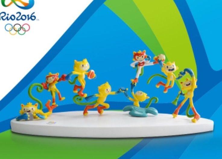 AUTHENTIC Brazil Rio 2016 Olympic Mascot Vinicius PVC Table Tops,30X10X10cm  | eBay