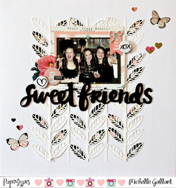 Scraps & Pixels: Sweet friends (FYC Kiss mini flair designed by Jana McCarthy)