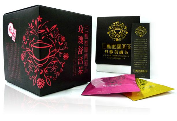 beautiful packaging for a chinese tea by a taiwanese design firm.
