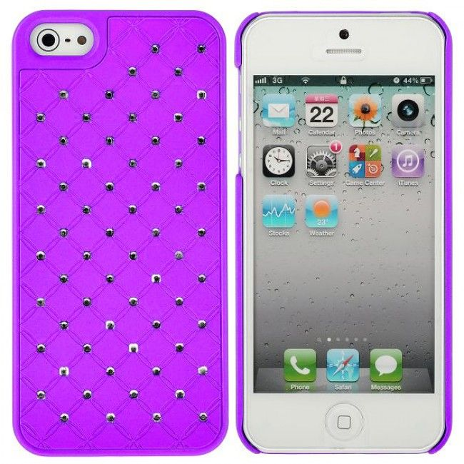 Colors & Bling (Violetti) iPhone 5 Suojakuori - http://lux-case.fi/colors-bling-violetti-iphone-5-suojakuori.html
