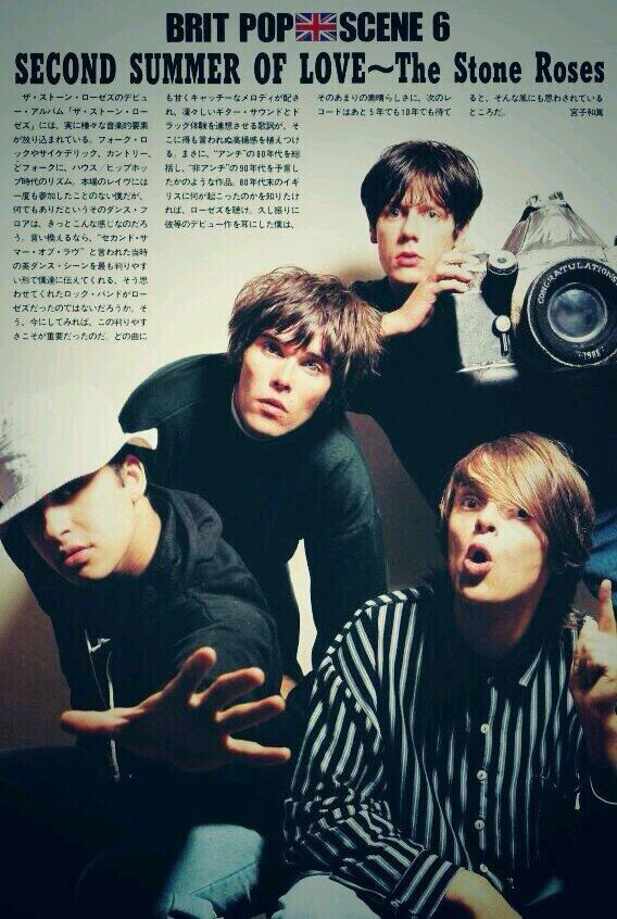 The Stone Roses & Brit Pop when music was great in the 80s & 90s