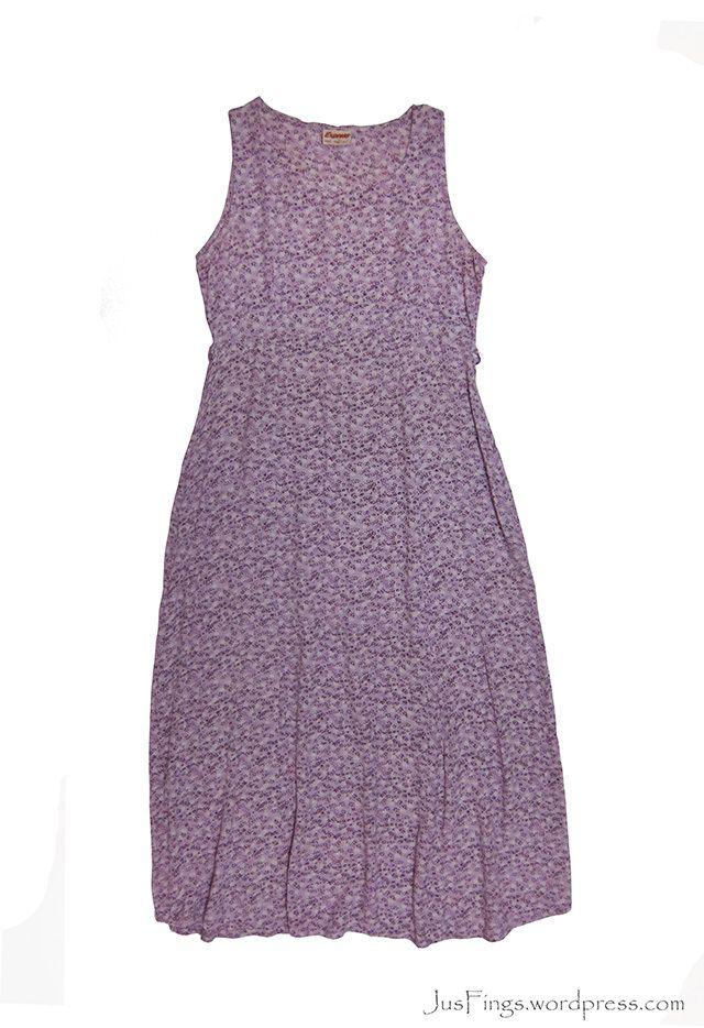 Lavender Floral Maxi Dress UK16 [SOLD]