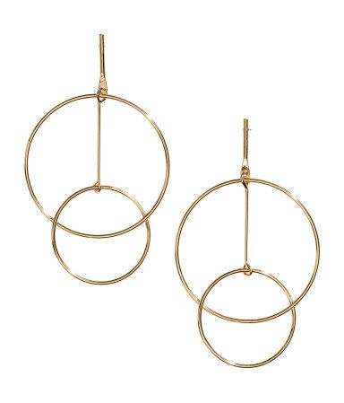 Large Earrings | Gold-colored | Ladies | H&M US