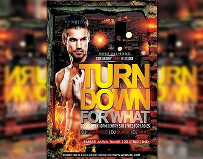 """Check out new work on my @Behance portfolio: """"Turn Down For What"""" http://be.net/gallery/34643999/Turn-Down-For-What"""
