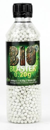 Blaster Bio .20g Airsoft BBs (3000 ct) Biodegradeable White $12.50
