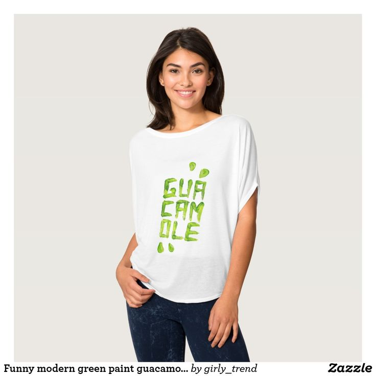 Funny modern green paint guacamole typography T-Shirt