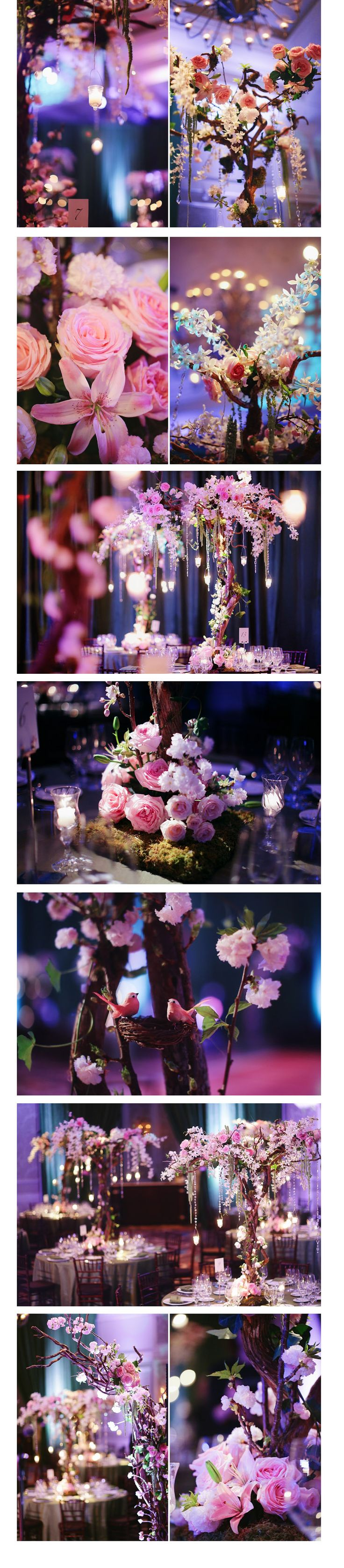 Centerpieces: Higher centerpieces, 8 of them. Diy: Table Candles/Votives. Need from Florist: Natural woo branches/manzanita, floral arrangements with greens, crystal hangings with candle holders. Request a break down of price for each item.