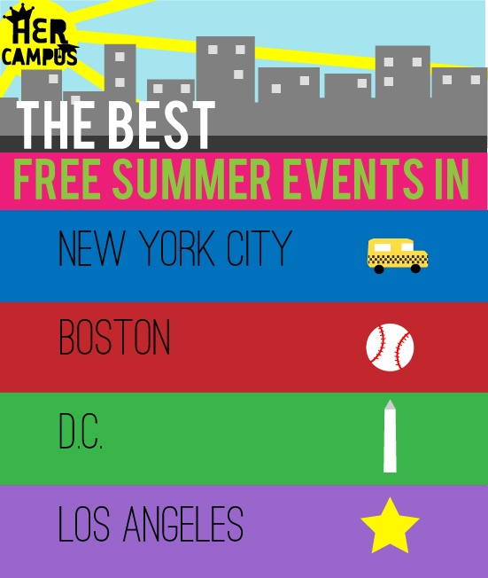 The Best Free Summer Events in NYC, Boston, DC, Chicago & LA