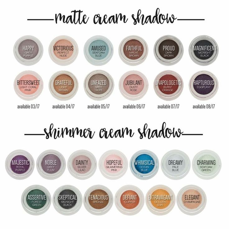 I'm in love with them all! If them! They go on as a cream but dry as powder, Unlike most cream shadows. No creasing and they're long wearing! Visit OvercomingAtoZ.con to check them out or purchase!