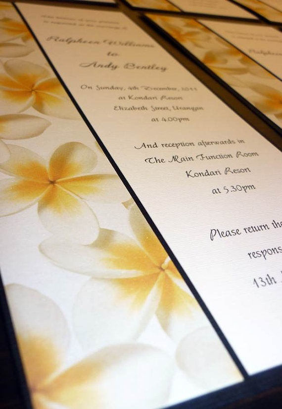 Tropical wedding invitations :)