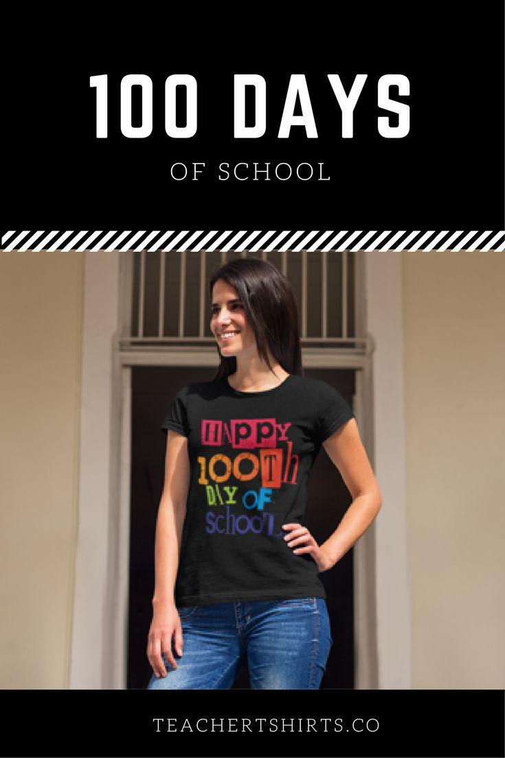 Happy 100th day of school teacher t-shirt. This is perfect!